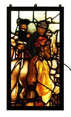Lot 28 - A large stained glass panel