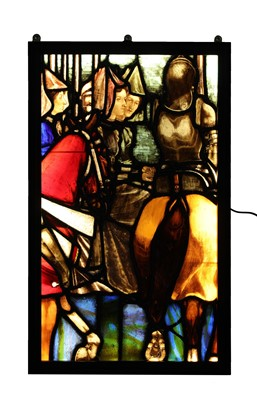 Lot 26 - A large stained glass panel