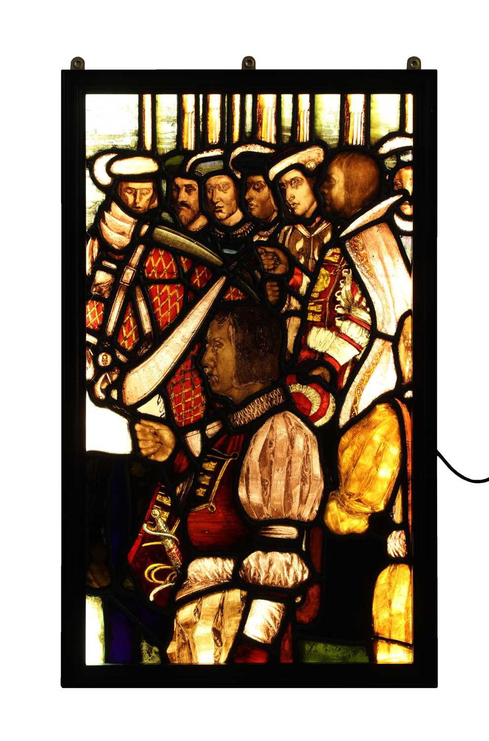 Lot 2-A large stained glass panel