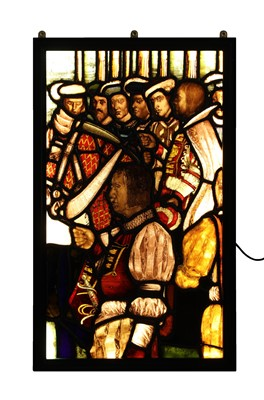 Lot 30 - A large stained glass panel