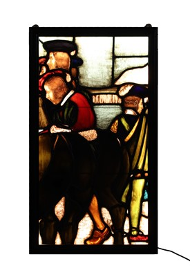 Lot 29 - A large stained glass panel