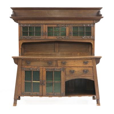 Lot 36 - An Arts and Crafts oak dresser