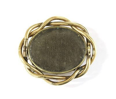 Lot 18-A gold mourning brooch