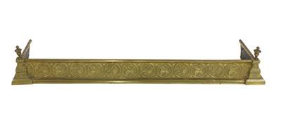 Lot 14 - An Aesthetic brass fire kerb