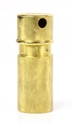 Lot 199 - A Continental gold miniature perfume atomiser