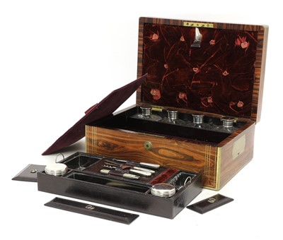 Lot 55 - A kingwood and brass inlaid travelling desk