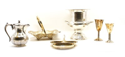 Lot 6-A collection of silver plated items
