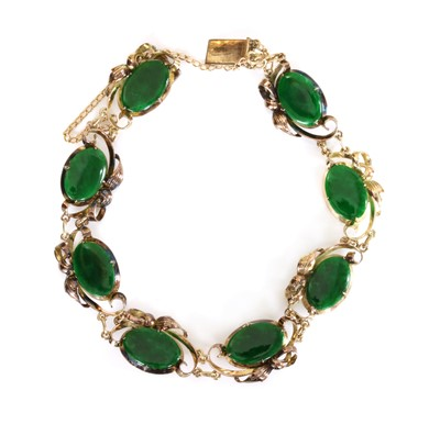 Lot 181 - A jade bracelet, c.1950