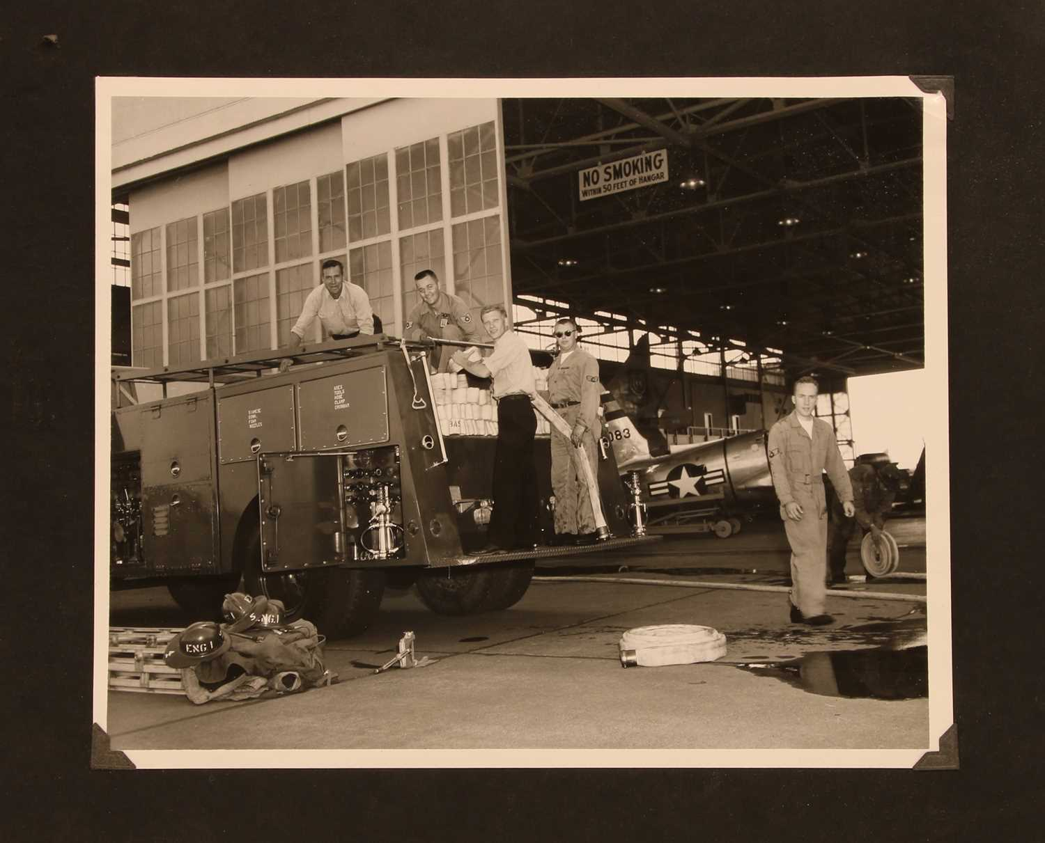 Lot 13-A US album of 109 military Cold War photographs of Marine Corps 238