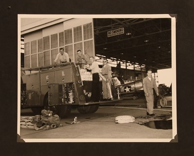 Lot 13 - A US album of 109 military Cold War photographs of Marine Corps 238