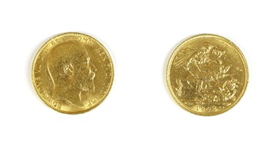Lot 15-Coins, Great Britain, Edward VII (1901-1910)