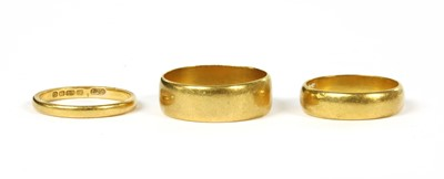 Lot 96 - Three 22ct gold wedding rings