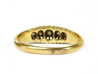 Lot 2 - An 18ct gold five stone diamond ring