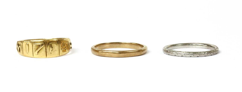 Lot 5-A Victorian 18ct gold Mizpah ring