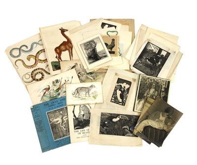 Lot 112 - Eric Fitch Daglish (1892-1966), Animals in Black and white, woodcut engravings