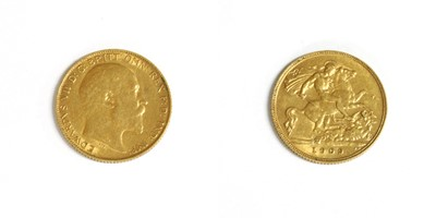 Lot 18-Coins, Great Britain, Edward VII (1901-1910)