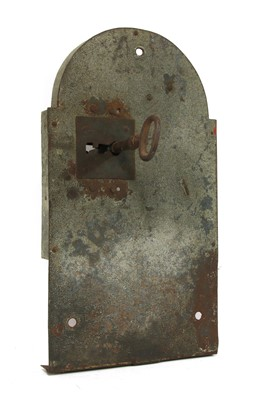 Lot 427 - A LARGE STEEL LOCK AND KEY
