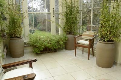 Lot 5 - A set of four large stoneware planters