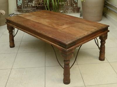 Lot 3 - An Indian hardwood low table