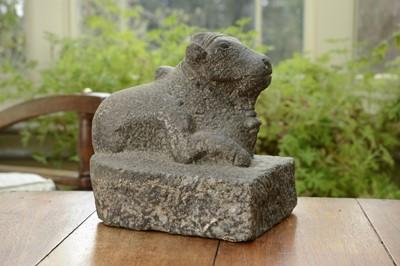 Lot 13 - A carved granite figure of Nandi
