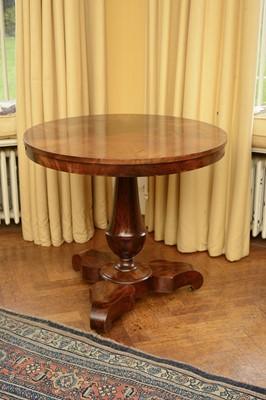 Lot 70 - A mahogany centre table