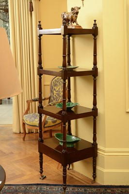 Lot 86 - A George III and later mahogany whatnot