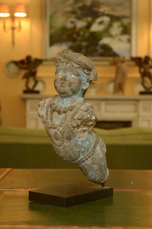 Lot 95 - An Indo-Portuguese terracotta figure of Shiva