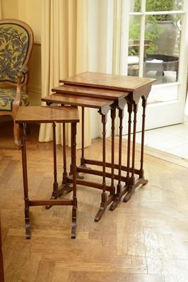Lot 96 - A quartet of Regency-style mahogany tables