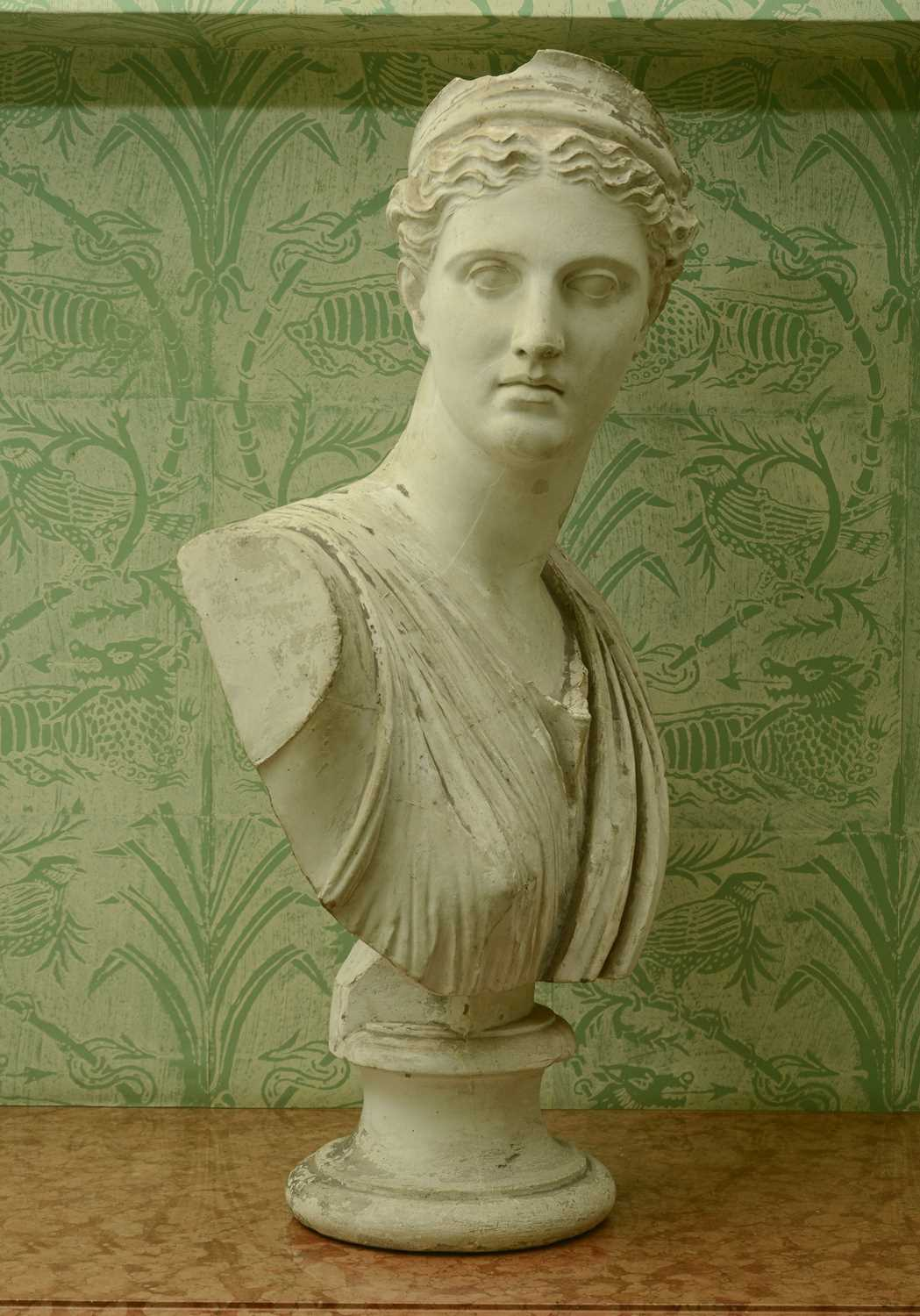 Lot 46 - A plaster bust of Diana