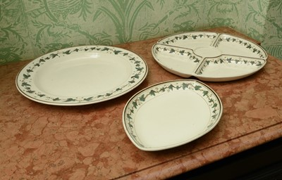 Lot 48 - A Wedgwood creamware sectional dish