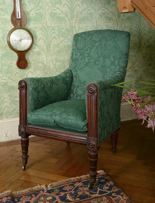 Lot 24 - A William IV mahogany armchair