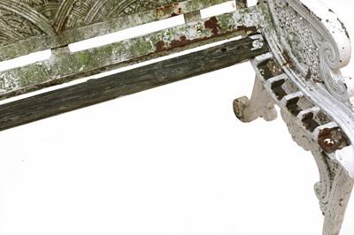 Lot 16 - A cast iron bench