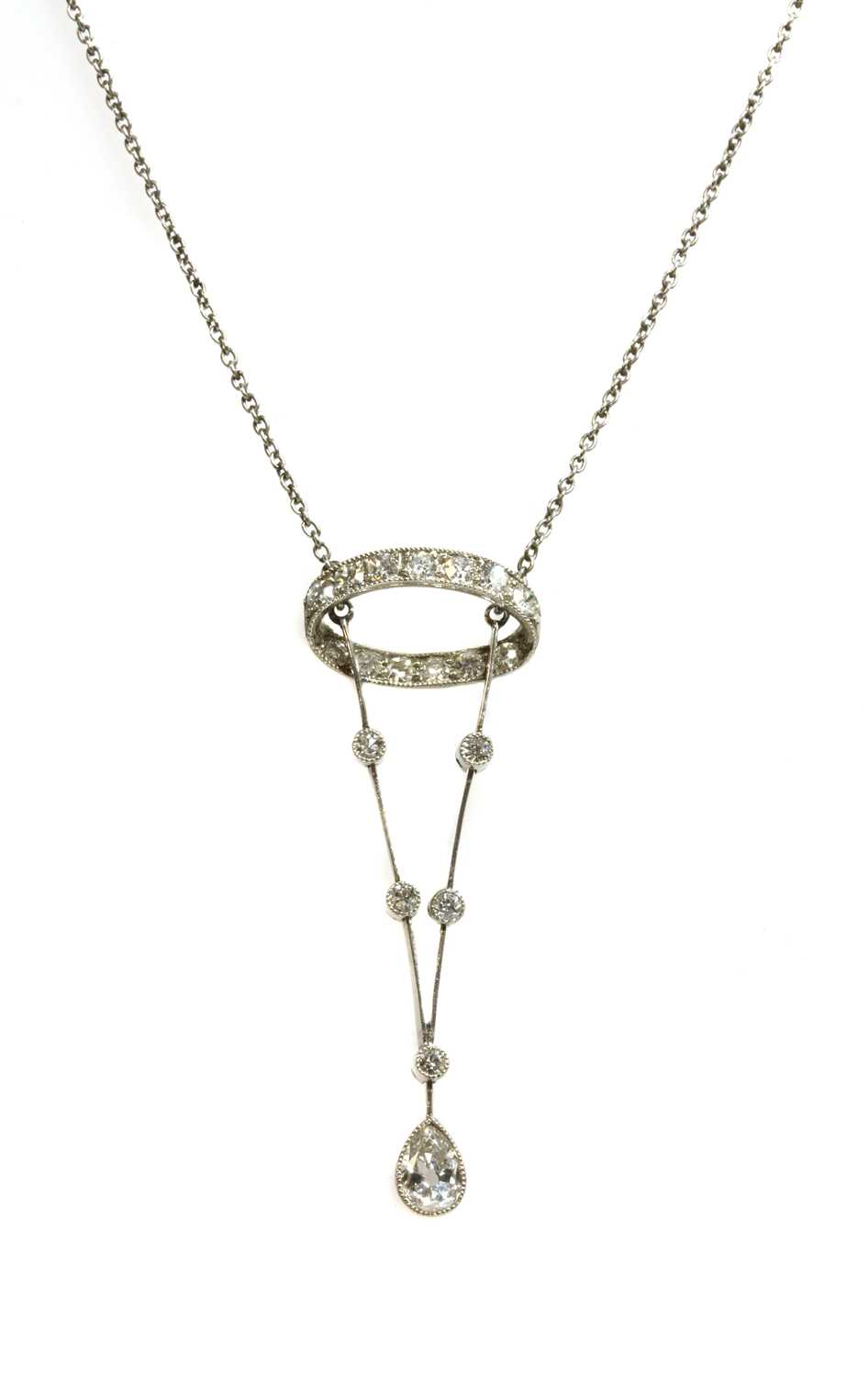 Lot 1-An Edwardian diamond pendant