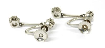 Lot 2 - A pair of early 20th century diamond drop earrings