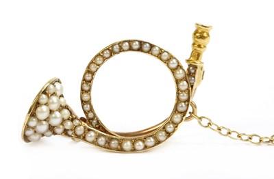Lot 26-A gold split pearl brooch