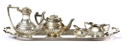 Lot 49 - An Elizabeth II silver miniature five piece tea set, by A Marston & Co