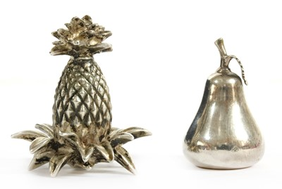 Lot 50 - Two silver menu holders, by Tiffany & Co