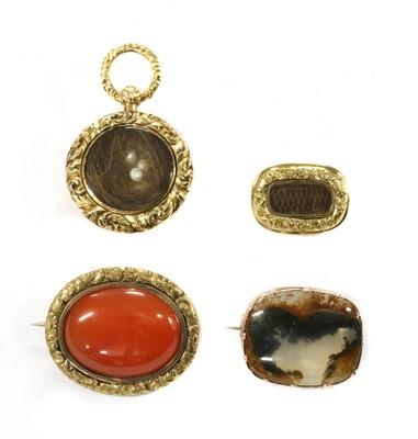 Lot 20 - A quantity of Georgian jewellery