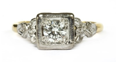 Lot 7-A gold single stone diamond ring