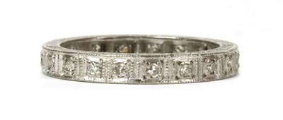 Lot 60 - A white gold diamond full eternity ring