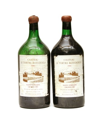 Lot 98 - Chateau Tertre Roteboeuf, St Emilion Grand Cru Classe, 1986, two double magnums
