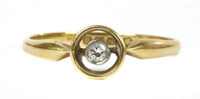 Lot 64 - An 18ct gold single stone diamond ring, c.1920
