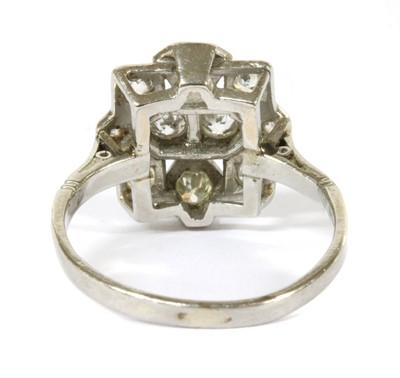 Lot 4 - An Art Deco diamond plaque ring