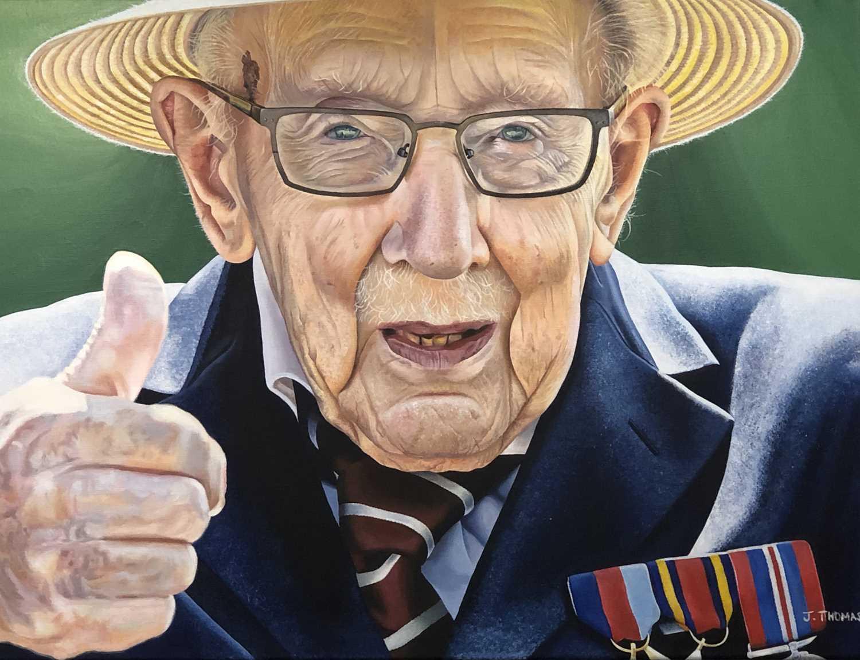Lot 118 - 'Thumbs Up' acrylic on canvas, Justine Thomas