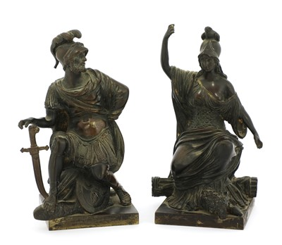 Lot 90 - A pair of French grand tour bronze figures