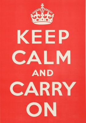 Lot 140 - 'KEEP CALM AND CARRY ON'