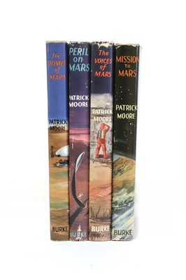 Lot 4 - Patrick MOORE (3 Science Fiction first editions with Dust jacket, VG+