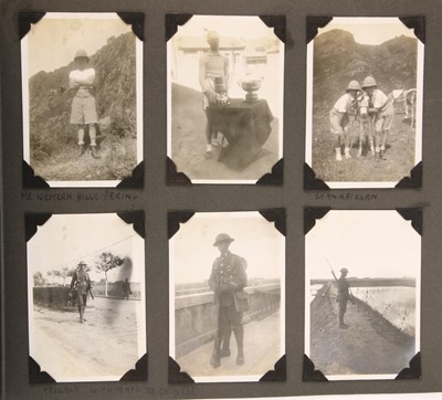 Lot 9-A British military album of 1930s service in China
