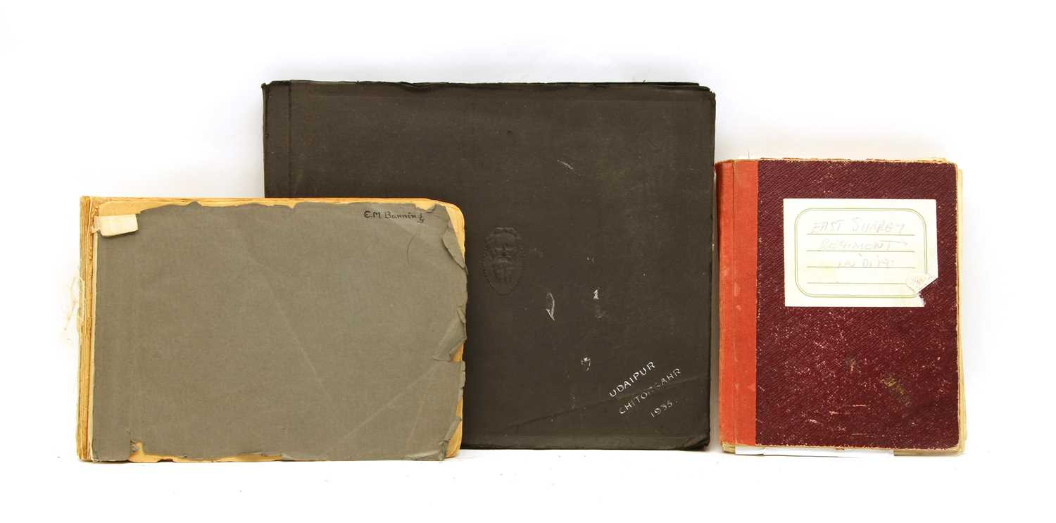 Lot 12 - Three albums of Military service in India and Egypt