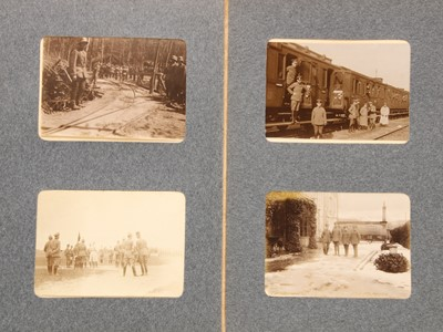 Lot 23-A German WW1 c.1917 Western Front album of 44 photos